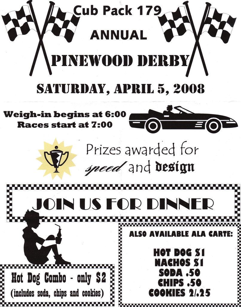 Pinewood Derby Invitation We Received Our Invitation To Th Flickr