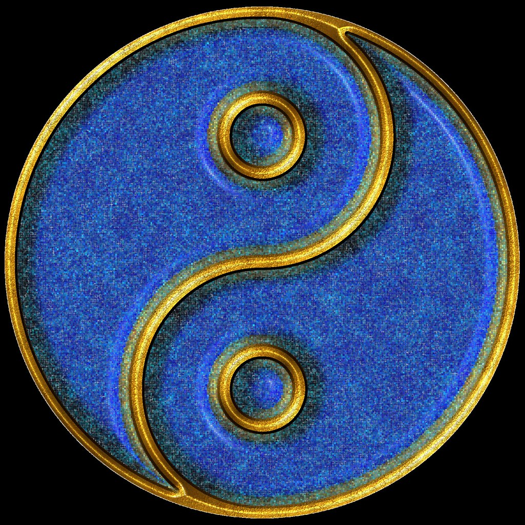 Yin Yang Gold And Blue Mosaic Computer Generated Image Flickr