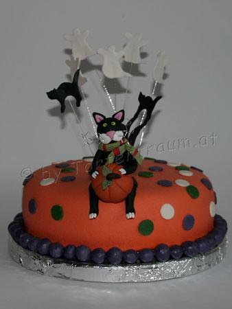 Halloween Torte Mit Verschreckter Katze Halloween Cake Wit Flickr