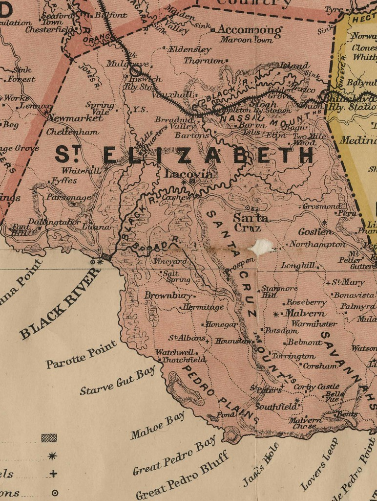 St Elizabeth Map of Jamaica 1895 Taken from the Island Flickr