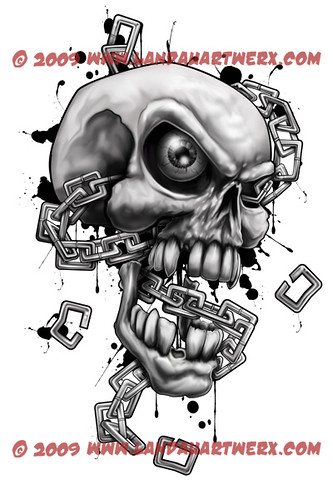Skull And Chain Heres Something That I Did This Weekend F Flickr