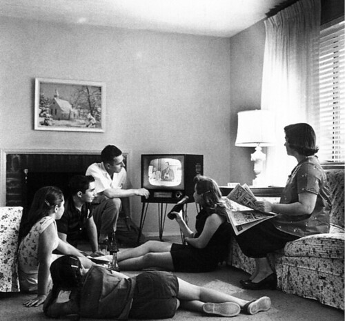 Family_watching_television_1958 | by ralphbijker
