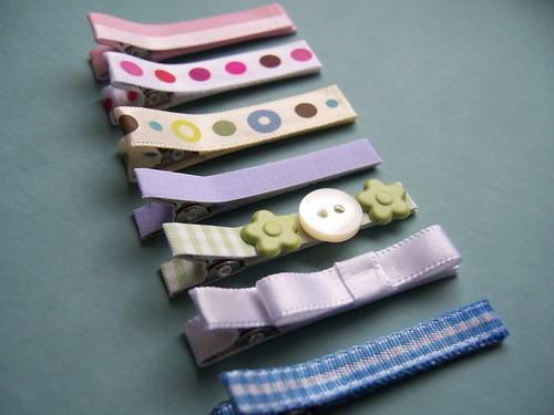 Handmade Baby Hair Clips | by paperseed