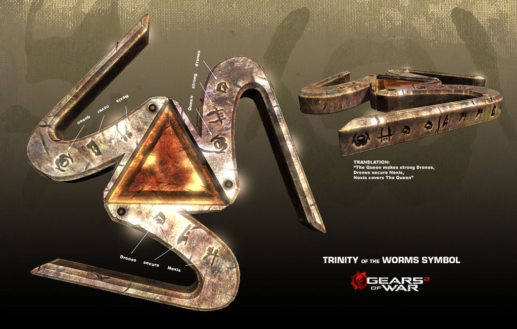 Gears Of War 2 Trinity Of The Worms Symbol I Designed The Flickr
