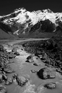 Mt Sefton, New Zealand (B&W) | by lachlansear