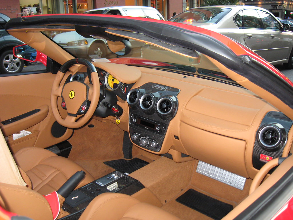 ... Ferrari F430 Spider F1 interior   by CarSpotter