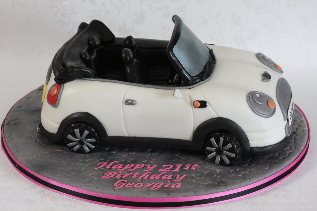 Convertible Mini Car Cake Me And This Little Car Spent Alo Flickr
