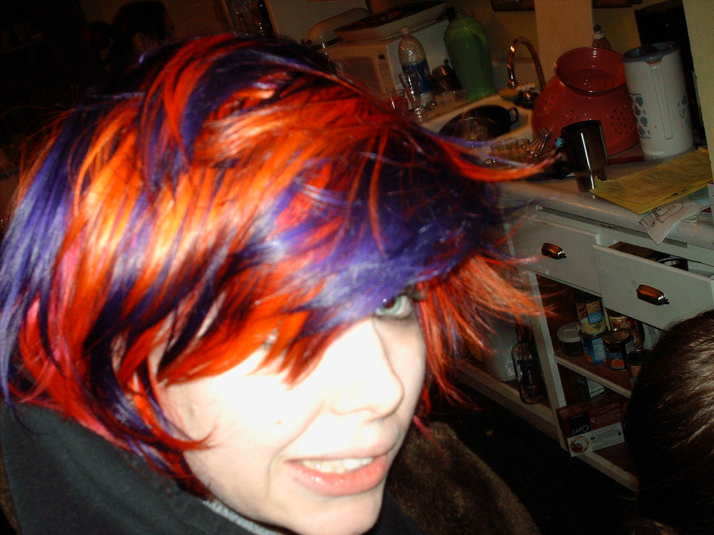 Checkered Orange And Purple Purple And Orange Hair With A Flickr