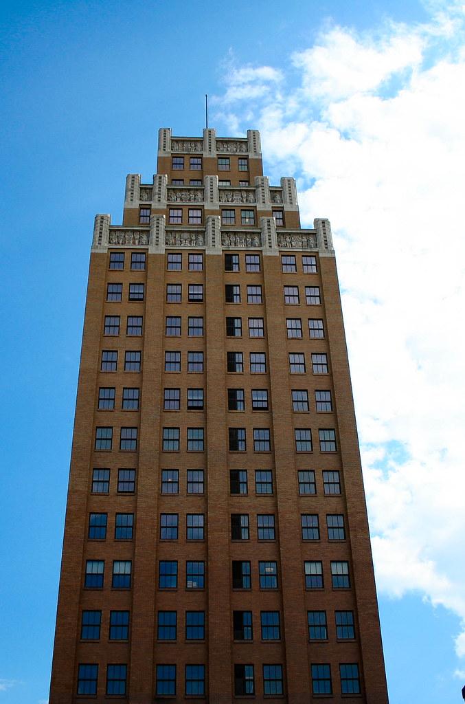 ... Niagara Falls Tall Brick Building   By Psychofarm