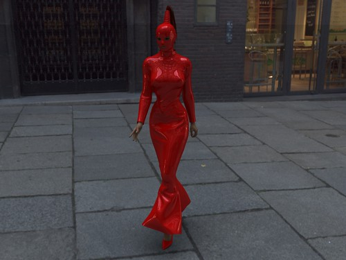 Latex day walk | Picture says it all. Created with Poser6 ...