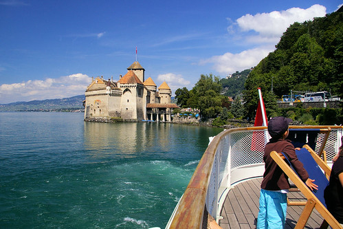 Chateau de Chillon, Montreux from a paddle steamer on Lake Geneva | by Jasper180969