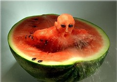 Food Art - Swimmer In Watermelon | by THE DOGS BOLLOX