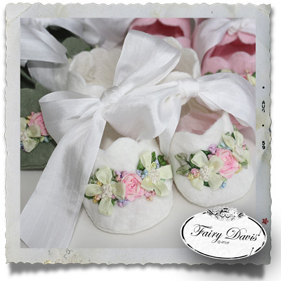 Felt Baby Booties With Silk Ribbon Embroidery Tammy Tutterow Flickr