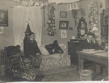 ... Two Male Students In Their Dorm Room At Old Wells Hall, 1900 | By  Michigan Part 41