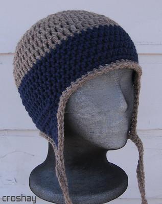 flyflap cap crocheted earflap hat Flyflap cap in Cascades ...
