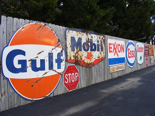 Mobile Auto Garage Signs : Old gas station signs texaco gulf mobil esso