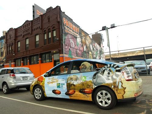 """Bronx Zoo"" Zip Car Near Fairway Market, Harlem, New York"