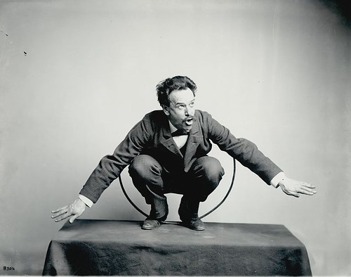 Franz Boas posing for the Hamat'sa life group figures | by runningafterantelope