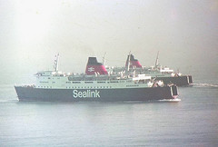 Sealink Ferries( Hengist and Horsa ) Fokestone Harbour | by Speedoracer( long train running)