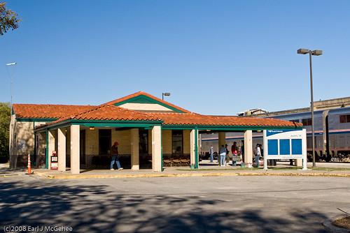 how to get to austin hospital by train