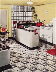 armstrong yellow kitchen | 1940 Yellow Armstrong Kitchen | Linoleum ads were some of ...
