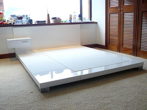 Dise o de mobiliario cama semidoble elaborados en for Cama semidoble