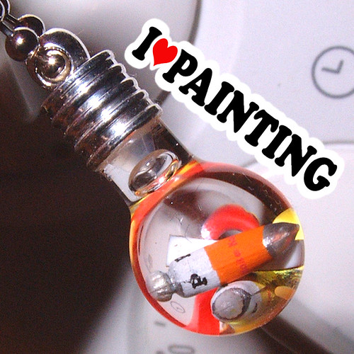 I heart Painting Artist Paint Tubes in a Tiny Vial Pendant Necklace | by Strawberry Anarchy