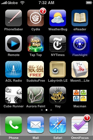 how to get the apps back on my iphone