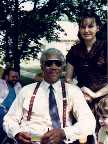 Laura with Morgan Freeman | by laurabotts