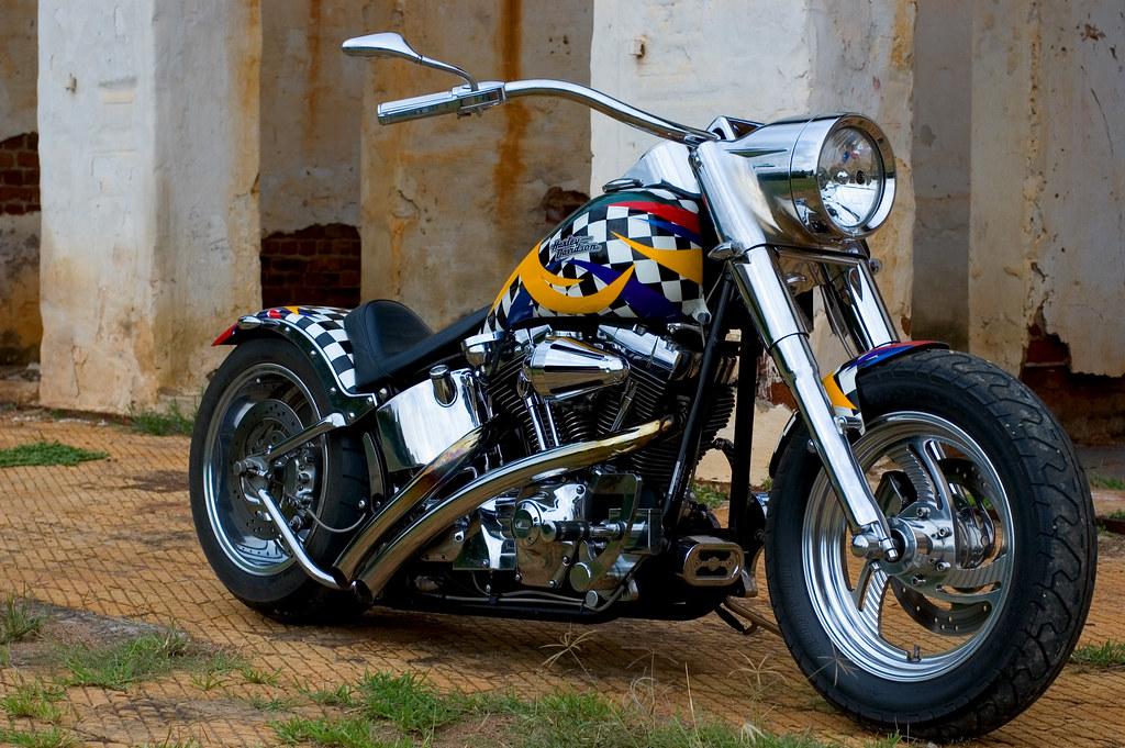 Harley Davidson Fatboy 2000 Custom 01 Jan Van Schaik Flickr