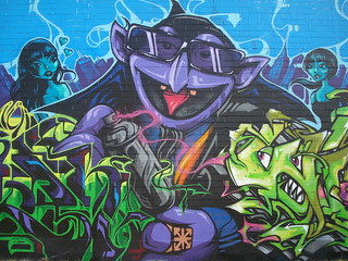 Ewok Krush Witnes MSK AWR  HM NASA SeventhLetter LosAngeles Graffiti Art | by anarchosyn