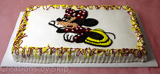 Minnie Mouse Sheet Cake | by creationsbyskip