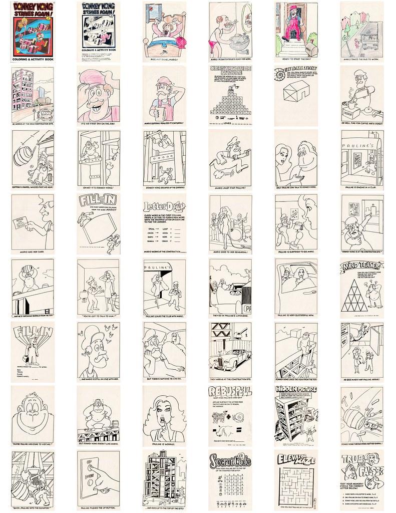 Donkey Kong Strikes Again Coloring & Activity Book (1983) | Flickr
