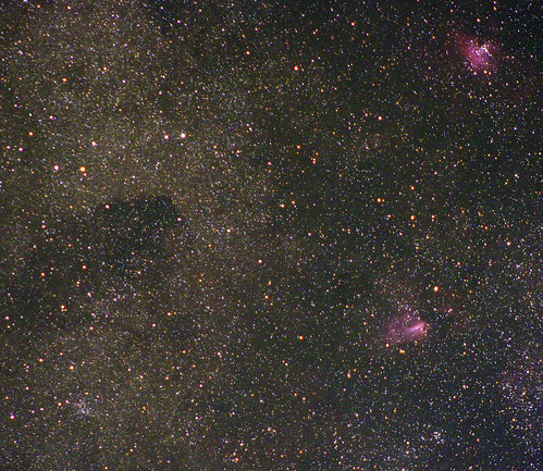 Milky Way region with the Swan and Eagle nebulae | by madmiked