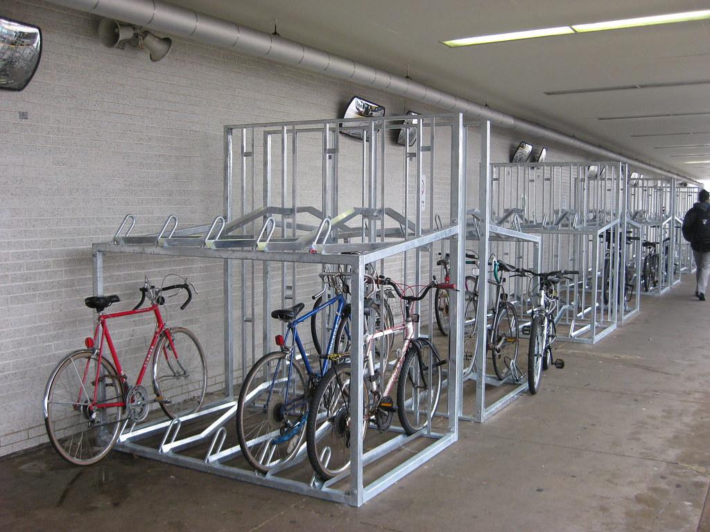 Double Decker Bike Racks At Jefferson Park Ryanbytes Flickr