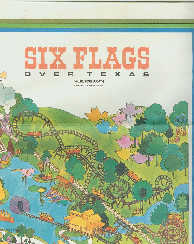 Six Flags Over Texas 1971 Map Yarbrough Flickr