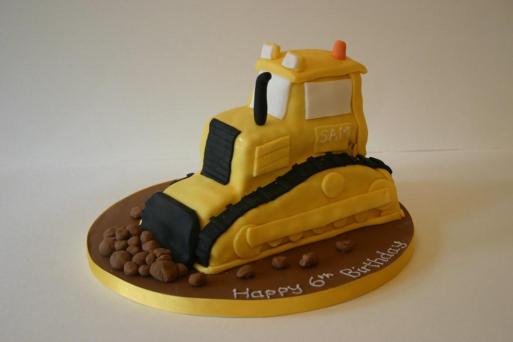 Bulldozer Cake Bulldozer Birthday Cake Vanilla Sponge Wit Flickr