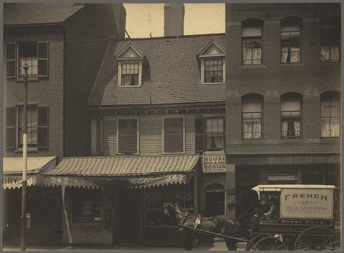 The Mather-Eliot House, near corner of Hanover and North Bennet Streets | by Boston Public Library