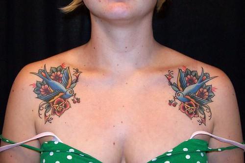 blue birds tattoo | traditional style blue bird tattoos mali… | Flickr