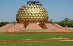 Auroville globe in Pondicherry, India | by Varnajalam. வர்ணஜாலம்.