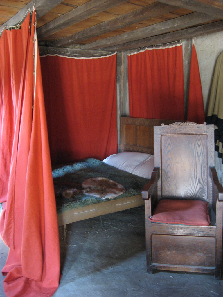 ... Rosewithoutathorn84 Bed With Beaver Pelts And Throne Like Chair | By  Rosewithoutathorn84