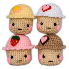 Kawaii Amigurumi Cupcake Keychain : Amigurumi Kawaii Cupcakes Ive been making little ...