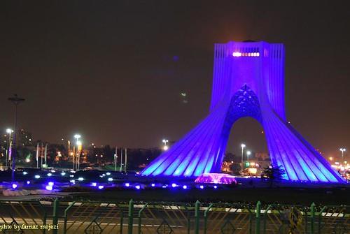 Beautiful ... Azadi Tower, Tehran, Iran | By International Diabetes Federation