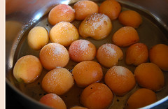 poaching apricots | by ramtops