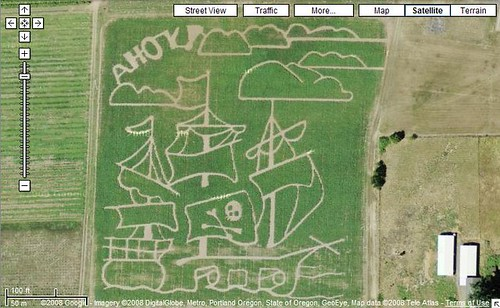 Baggenstos Farms Pirate Theme Corn Field Maze | by Si1very