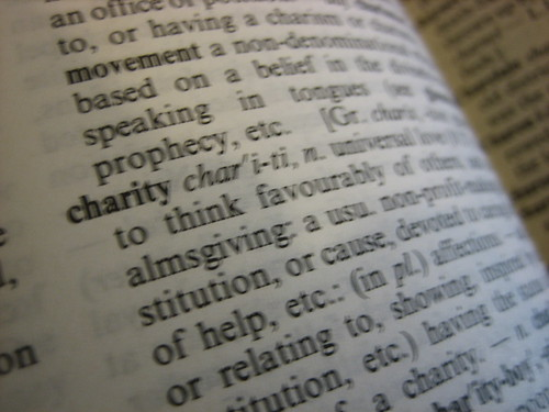 Charity in the dictionary | by HowardLake