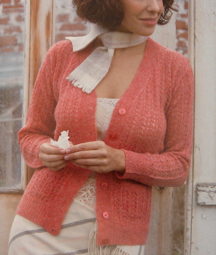 Lace Cardigan in Eyelet Pattern | by AgnesBerthelot