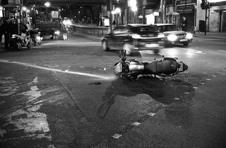 Motorcycle accident, Balham | by drewleavy
