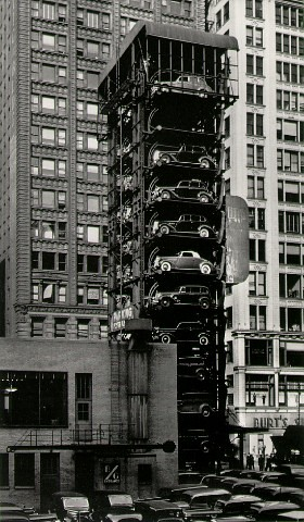 Elevator Garage With Parking Lot John Gutmann 1936