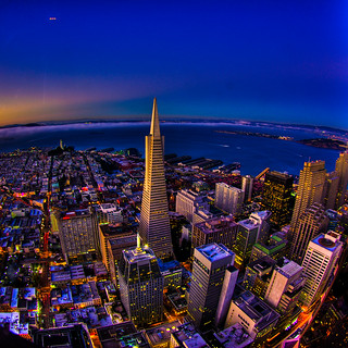 Transamerica Tower (HDR at dusk) San Francisco | by mathewbest